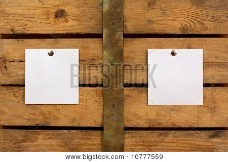 Two Pieces Of Blank Paper