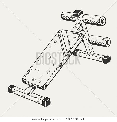 The image with illustration of training apparatus.