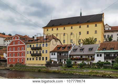 Historic Houses, Cesky Krumlov, Czech Republic