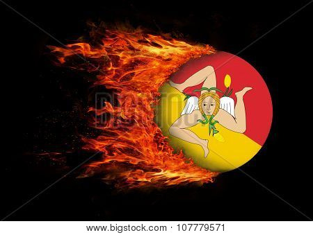 Flag With A Trail Of Fire - Xxxxx