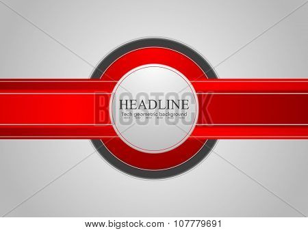 Hi-tech abstract corporate red grey background. Vector design