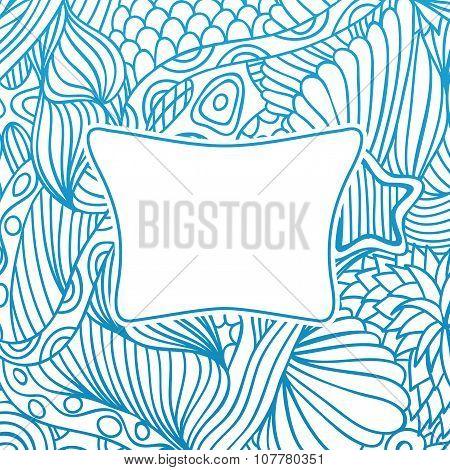 Sea hand drawn background