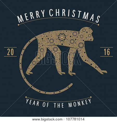 ornament golden monkey