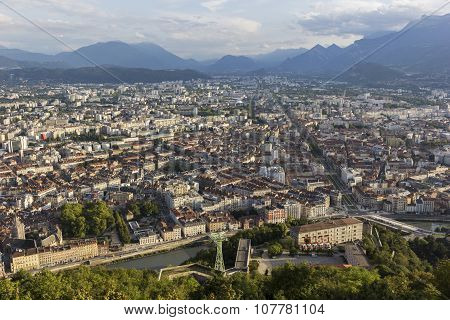 View On Grenoble In France
