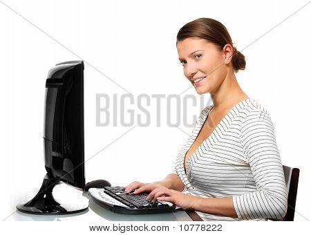 Beautiful Woman Working