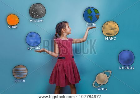 teen girl laughing and holding hands stretched planets of the so