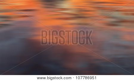 dramatic blurred sunset reflection background
