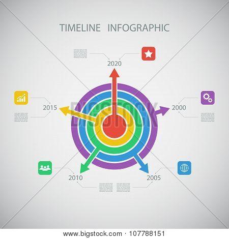 Circle timeline infographic design template.Vector illustration.