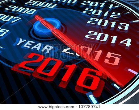 New Year Speedometer