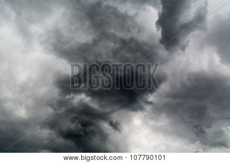 Darkness Of Solid Cloudy Sky