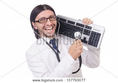 IT technician in security concept