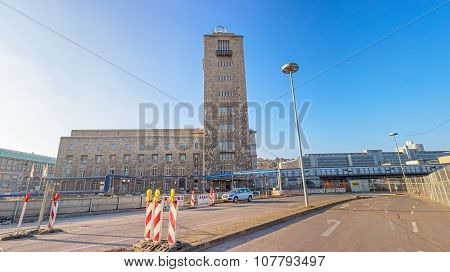 Central Railway Station (hauptbahnhof) In Stuttgart, Germany