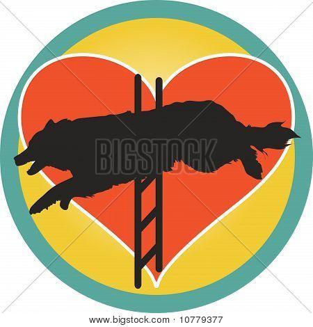 Agility Dog Heart