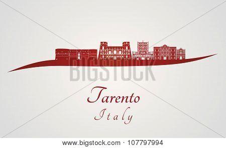 Tarento Skyline In Red