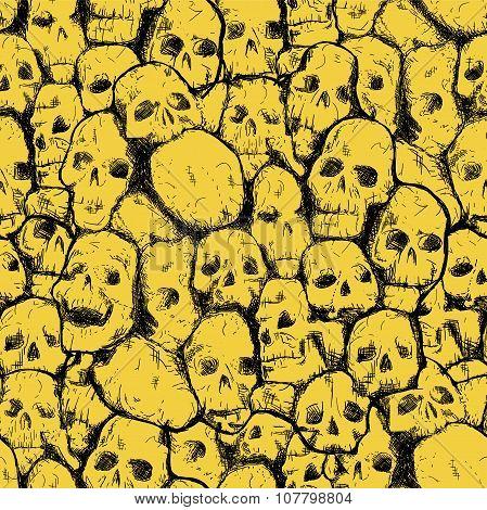 grungy skull pattern