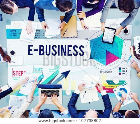 E-Business Global Business Digital Marketing Concept