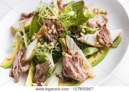 Salad With Duck Breast And Pine Nuts