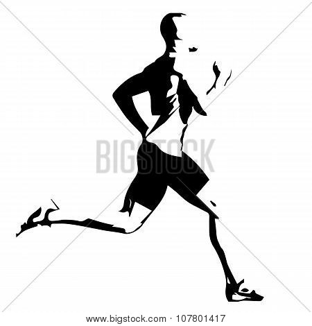 Run, Vector Drawing Silhouette