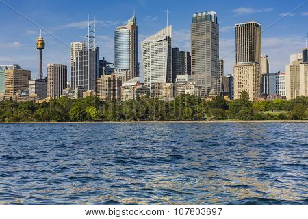 Skyline Of Sydney With City Central Business District.