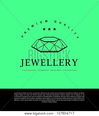 Vector jewelry and diamond logo