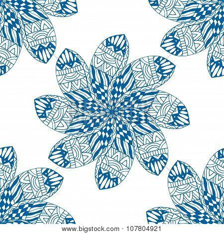 Blue Seamless Pattern.