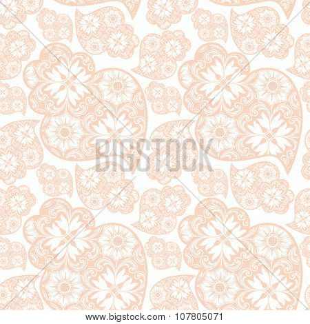 Traditionall Portuguese Viana's Heart And Azulejo Tiles Background. Vector Illustration. Seamless Po