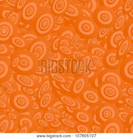 Orange seamless ellipse pattern background