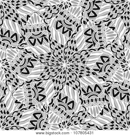 Black Seamless Pattern.