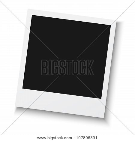 Vintage Photo Frame Isolated on White Background. Retro Photorea