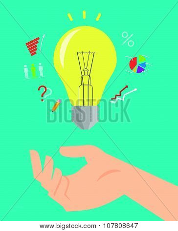 Vector flat business and marketing illustration