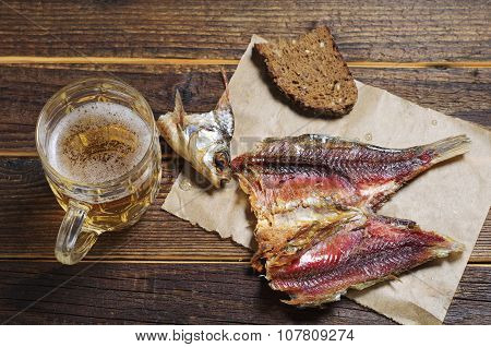 Dried Fish And Beer