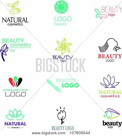 Set of beauty industry and fashion logo.
