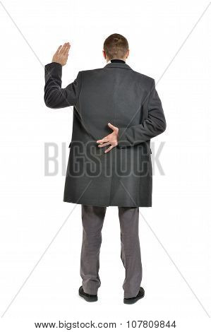 Man with his fingers