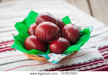Easter Red Onion Dyed Eggs