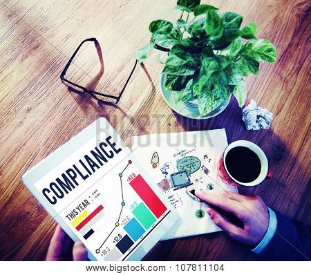 Compliance Procedure Regulations Risk Strategy Concept