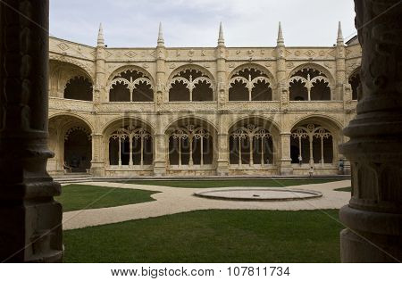 Cloister Of The Ancient Jeronimos Monastery