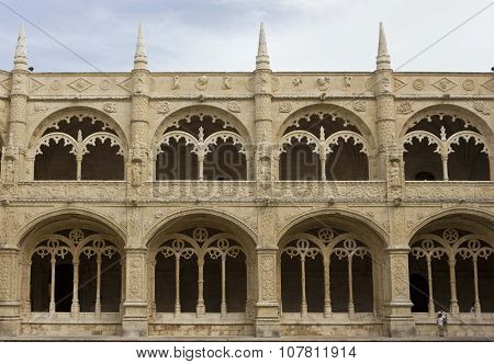 Inner Facade Of Jeronimos Monastery