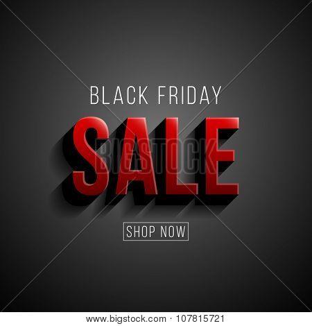 Black Friday sale illustration. Modern style vector design template.