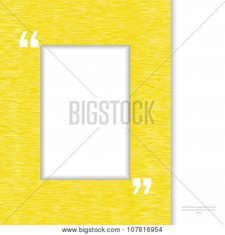 Yellow Quote frame