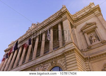Palais De La Bourse In Marseilles, France