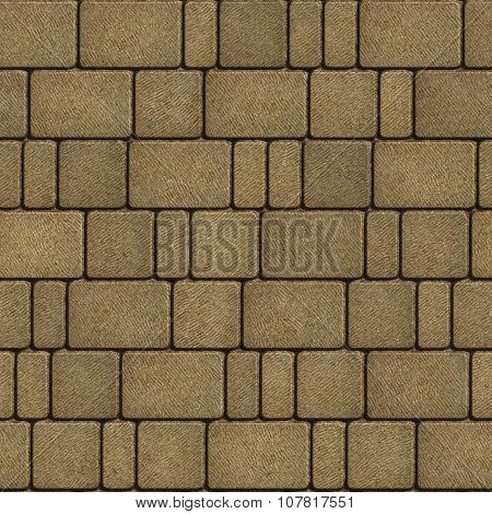 Sand Color Pavement Laid as Squares and Rectangles.
