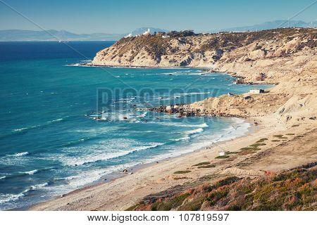 Coastal Landscape Of Gibraltar Strait, Morocco