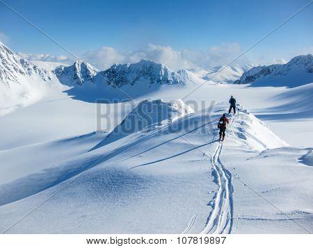 On The Winter Mountain Ridge