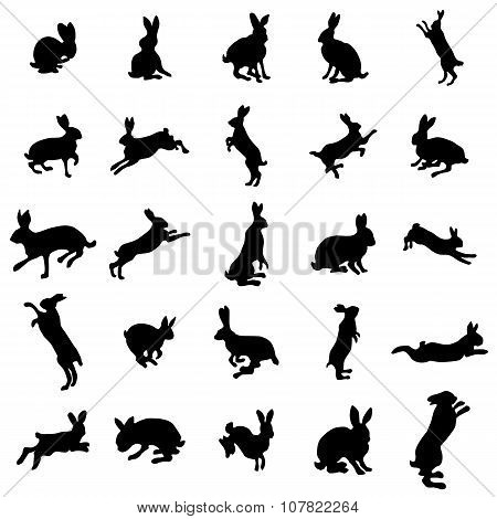 Rabbit silhouettes set. Rabbit silhouettes vector. Rabbit silhouettes art. Rabbit silhouettes web. Rabbit silhouettes new. Rabbit icons. Rabbit icons vector. Rabbit icons isolated. Rabbit icons web