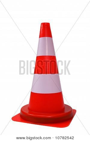 Orange Cone Isolated