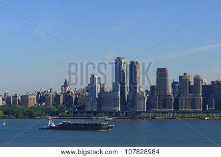 Hudson River and Upper West Side Skyline