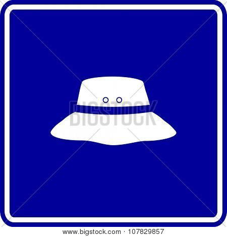 bucket hat sign