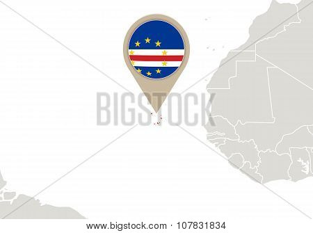Cape Verde On World Map