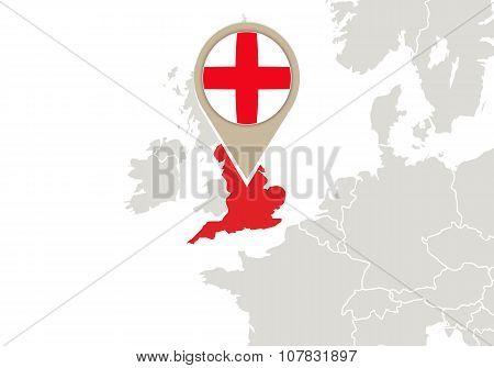 England On Europe Map