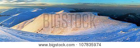 Evening Mountain Gold